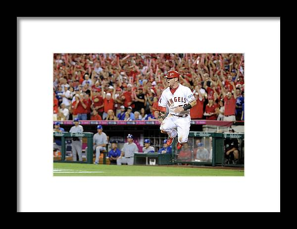 Game Two Framed Print featuring the photograph Kole Calhoun by Harry How