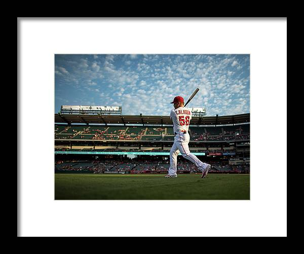 People Framed Print featuring the photograph Kole Calhoun by Matt Brown