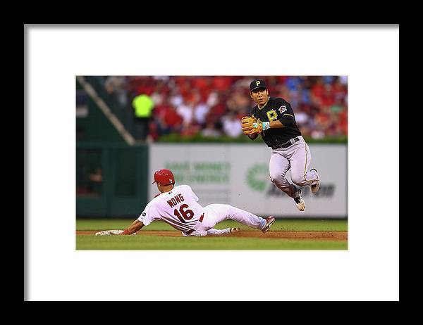 St. Louis Cardinals Framed Print featuring the photograph Kolten Wong and Jung Ho Kang by Dilip Vishwanat