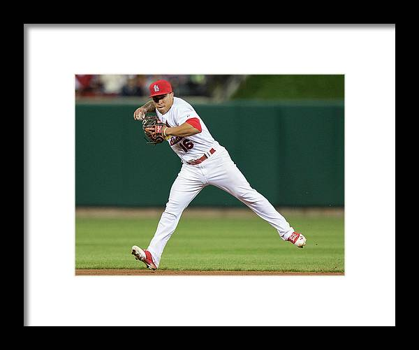St. Louis Cardinals Framed Print featuring the photograph Kolten Wong by David Welker