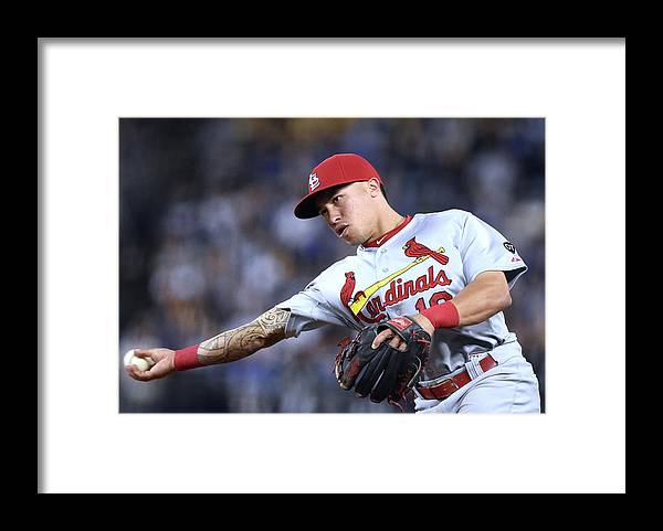 St. Louis Cardinals Framed Print featuring the photograph Kolten Wong by Harry How