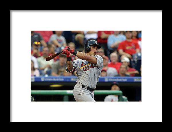 St. Louis Cardinals Framed Print featuring the photograph Kolten Wong by Hunter Martin