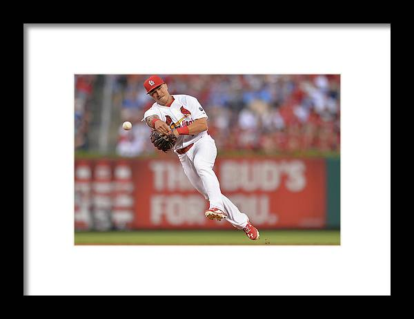 St. Louis Cardinals Framed Print featuring the photograph Kolten Wong by Michael Thomas