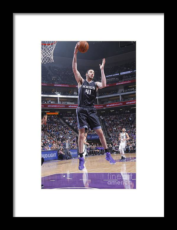 Nba Pro Basketball Framed Print featuring the photograph Kosta Koufos by Rocky Widner