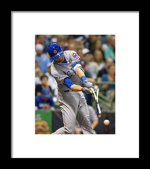 Three Quarter Length Framed Print featuring the photograph Kris Bryant and Jimmy Nelson by Tom Lynn