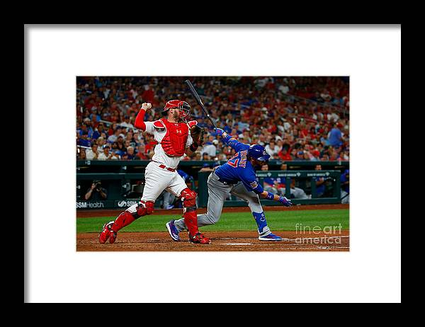 People Framed Print featuring the photograph Kris Bryant and Matt Wieters by Dilip Vishwanat