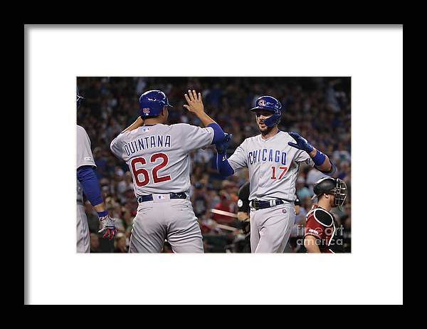 Three Quarter Length Framed Print featuring the photograph Kris Bryant by Christian Petersen