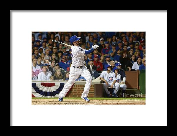 People Framed Print featuring the photograph Kris Bryant by David Banks
