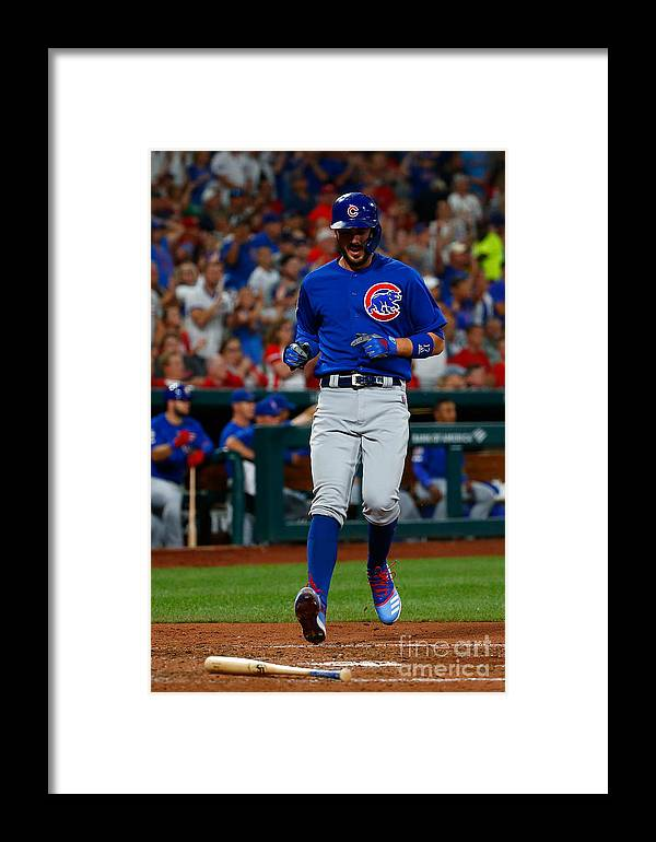 People Framed Print featuring the photograph Kris Bryant by Dilip Vishwanat