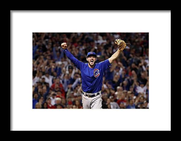 Three Quarter Length Framed Print featuring the photograph Kris Bryant by Ezra Shaw