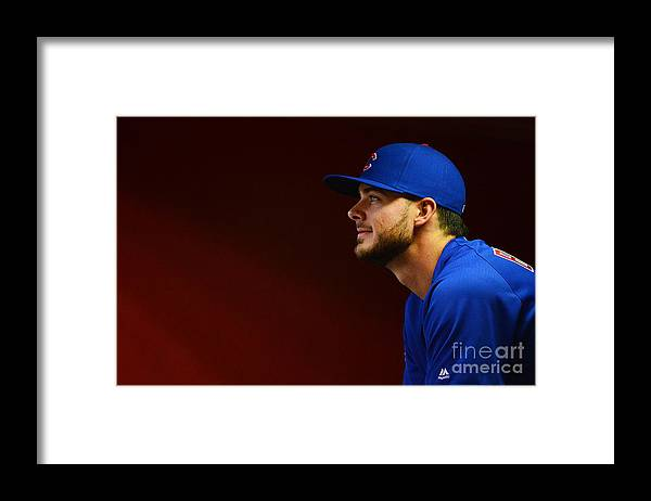 People Framed Print featuring the photograph Kris Bryant by Jennifer Stewart