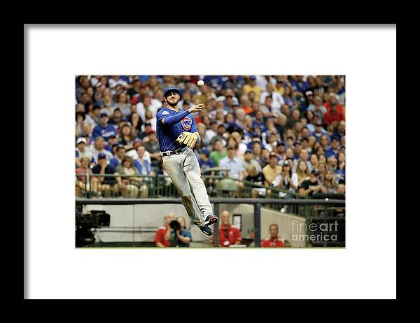 People Framed Print featuring the photograph Kris Bryant by Stacy Revere