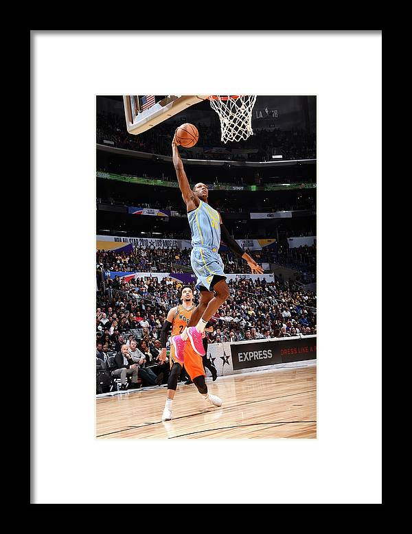 Event Framed Print featuring the photograph Kris Dunn by Andrew D. Bernstein