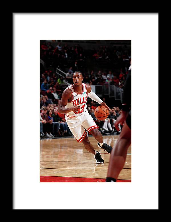 Chicago Bulls Framed Print featuring the photograph Kris Dunn by Jeff Haynes