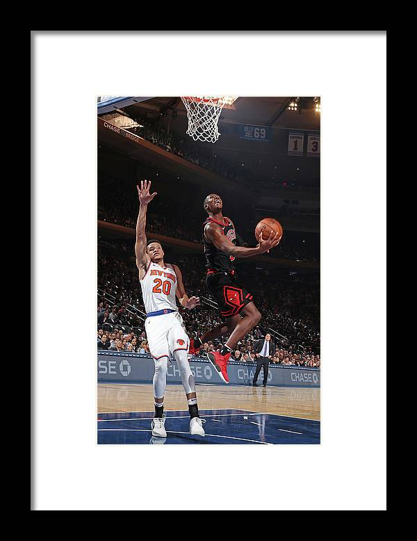 Chicago Bulls Framed Print featuring the photograph Kris Dunn by Nathaniel S. Butler