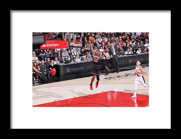 Chicago Bulls Framed Print featuring the photograph Kris Dunn by Sam Forencich