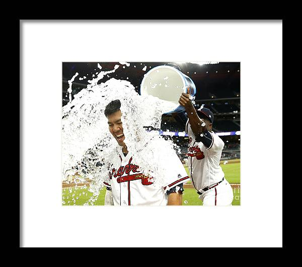 Atlanta Framed Print featuring the photograph Kurt Suzuki by Mike Zarrilli
