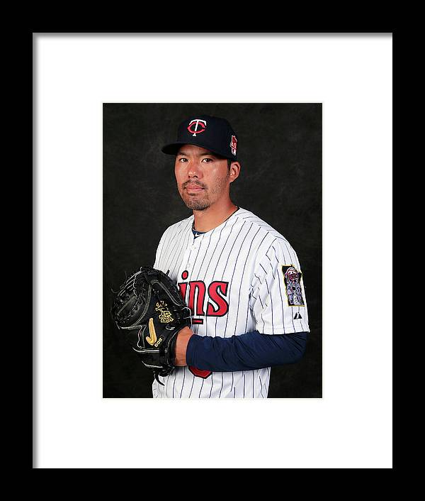 Media Day Framed Print featuring the photograph Kurt Suzuki by Rob Carr