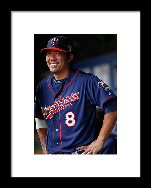 American League Baseball Framed Print featuring the photograph Kurt Suzuki by Tom Pennington