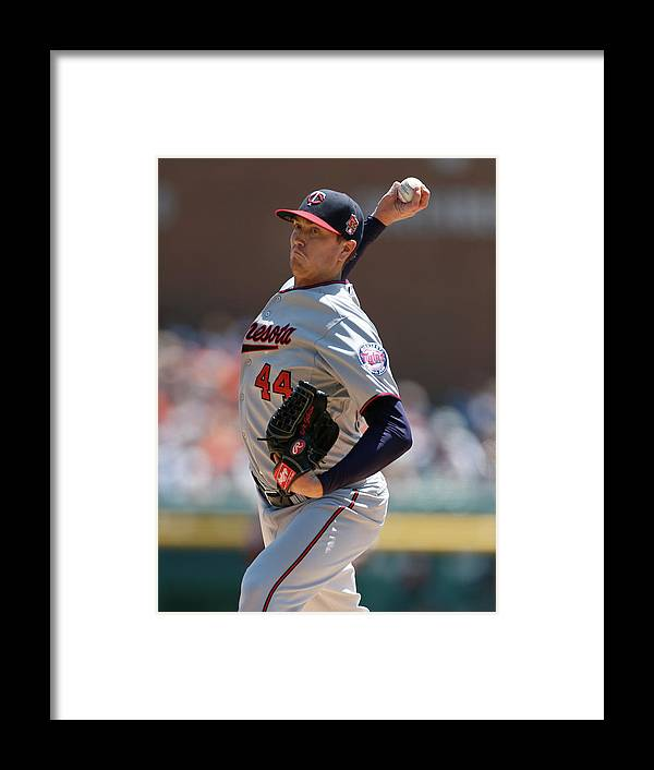 American League Baseball Framed Print featuring the photograph Kyle Gibson by Gregory Shamus