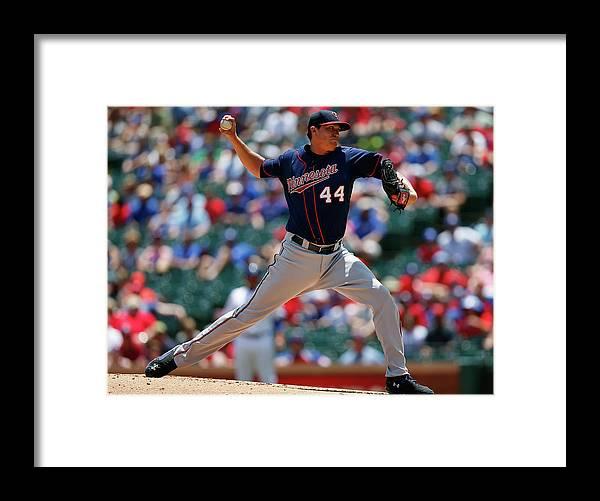 American League Baseball Framed Print featuring the photograph Kyle Gibson by Tom Pennington
