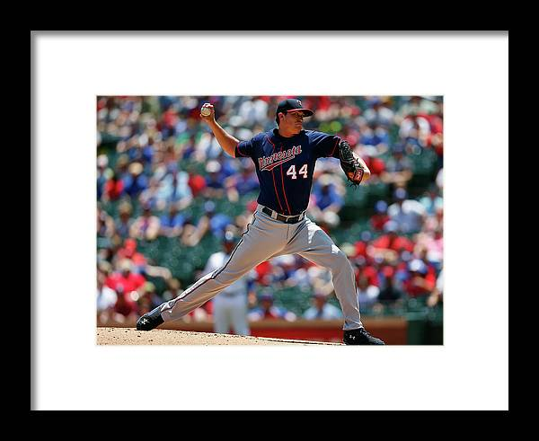 American League Baseball Framed Print featuring the photograph Kyle Gibson by Tom Pennington