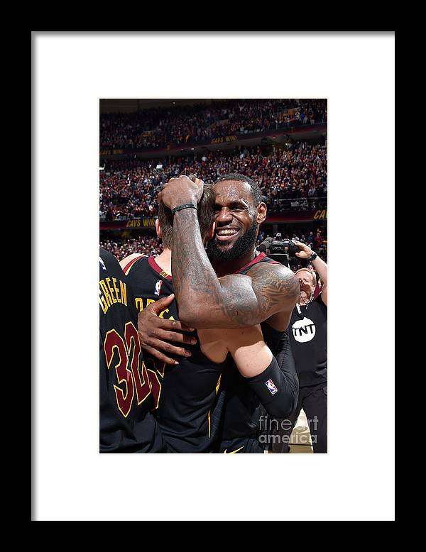 Playoffs Framed Print featuring the photograph Kyle Korver and Lebron James by David Liam Kyle