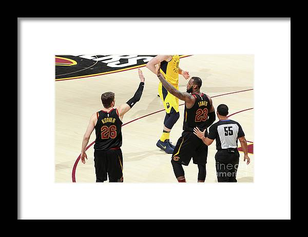 Playoffs Framed Print featuring the photograph Kyle Korver and Lebron James by Nathaniel S. Butler