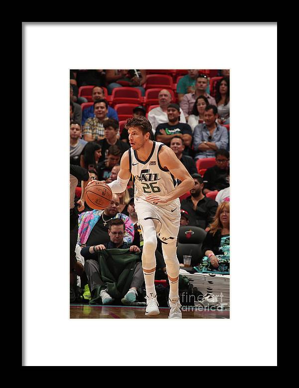 Nba Pro Basketball Framed Print featuring the photograph Kyle Korver by Issac Baldizon