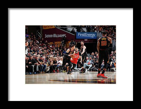 Playoffs Framed Print featuring the photograph Kyle Korver by Jeff Haynes