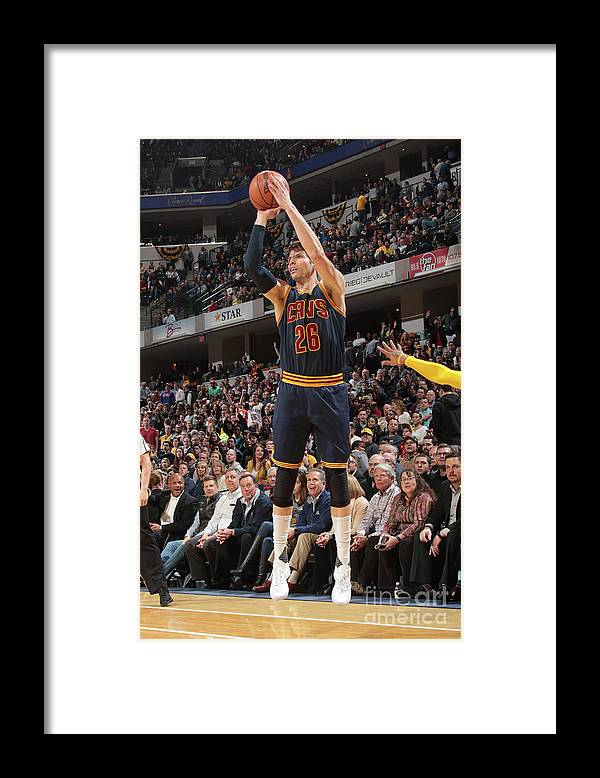 Nba Pro Basketball Framed Print featuring the photograph Kyle Korver by Ron Hoskins