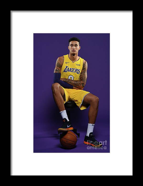 Media Day Framed Print featuring the photograph Kyle Kuzma by Aaron Poole