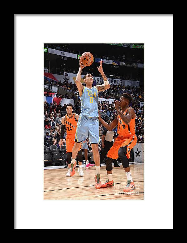 Event Framed Print featuring the photograph Kyle Kuzma by Andrew D. Bernstein