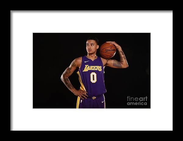 Nba Pro Basketball Framed Print featuring the photograph Kyle Kuzma by Brian Babineau