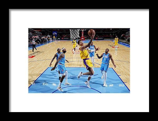 Nba Pro Basketball Framed Print featuring the photograph Kyle Kuzma by Cato Cataldo