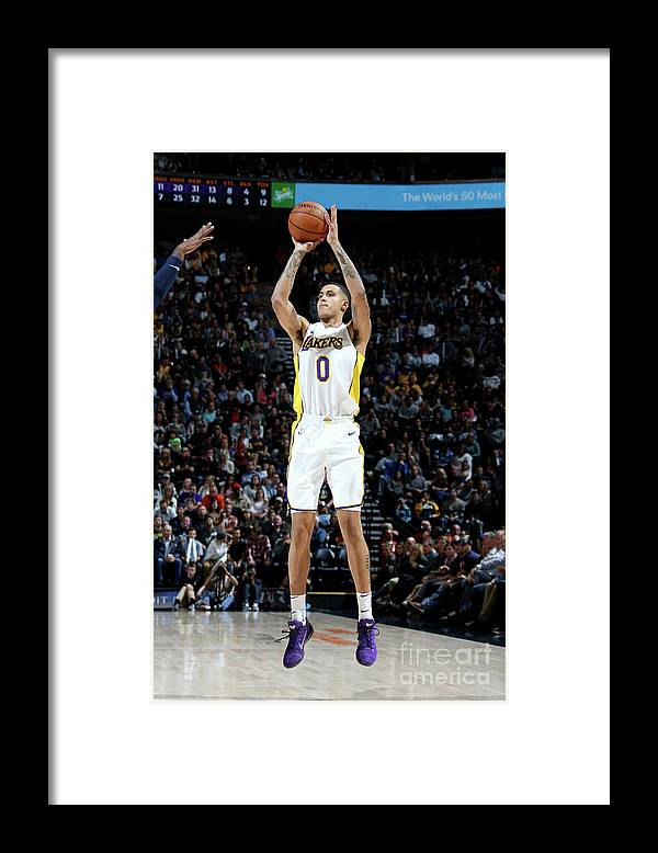 Nba Pro Basketball Framed Print featuring the photograph Kyle Kuzma by Melissa Majchrzak