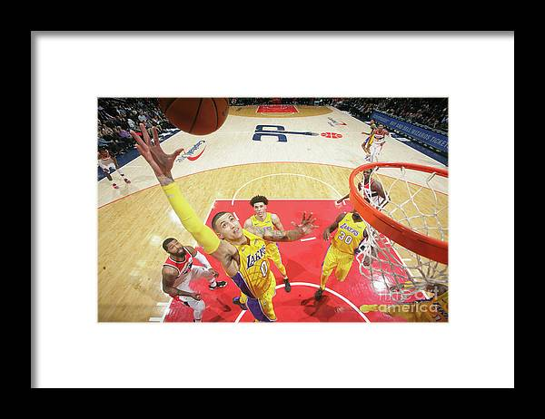 Nba Pro Basketball Framed Print featuring the photograph Kyle Kuzma by Ned Dishman