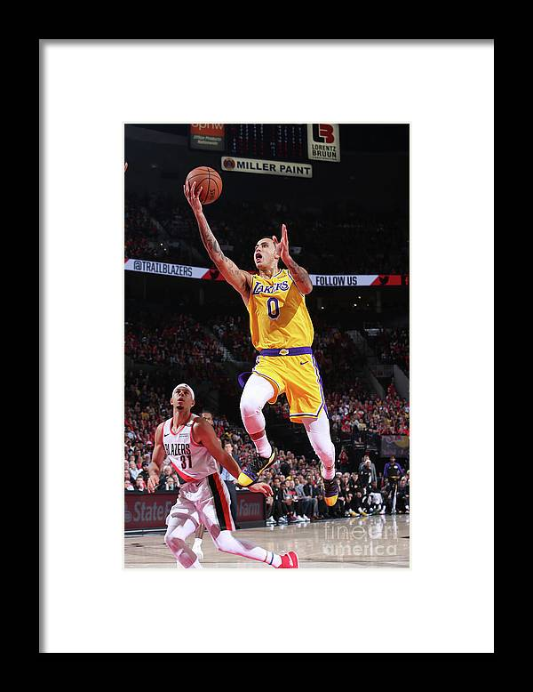 Nba Pro Basketball Framed Print featuring the photograph Kyle Kuzma by Sam Forencich