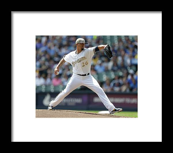 American League Baseball Framed Print featuring the photograph Kyle Lohse by Jeffrey Phelps