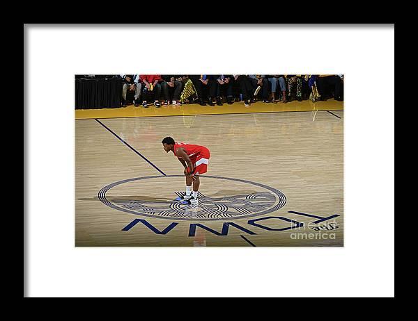 Playoffs Framed Print featuring the photograph Kyle Lowry by Garrett Ellwood