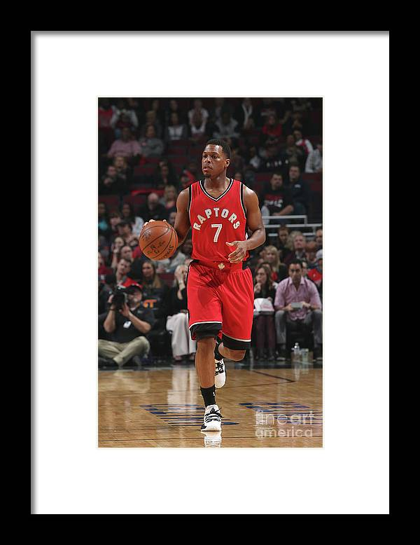 People Framed Print featuring the photograph Kyle Lowry by Gary Dineen