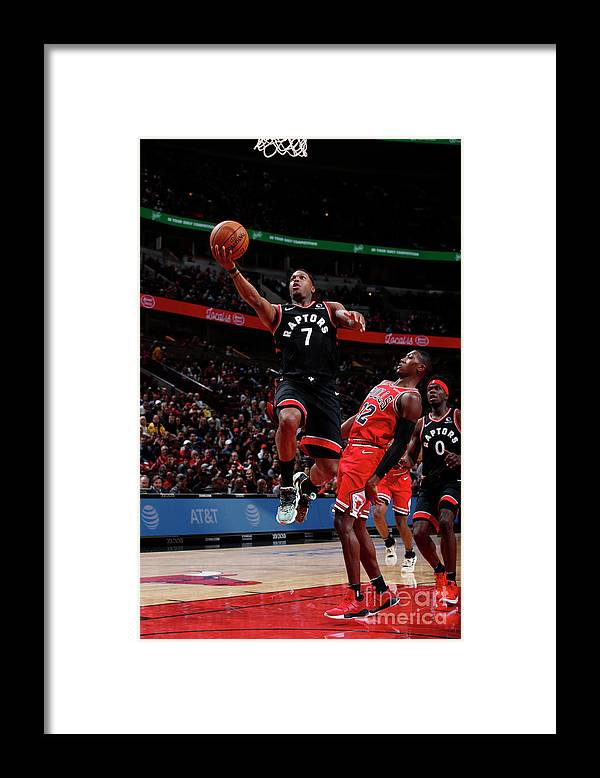 Nba Pro Basketball Framed Print featuring the photograph Kyle Lowry by Jeff Haynes