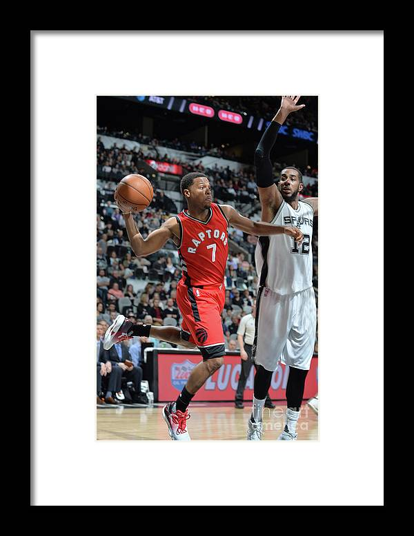 Nba Pro Basketball Framed Print featuring the photograph Kyle Lowry by Mark Sobhani