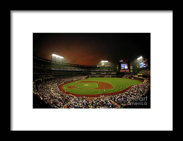 Residential District Framed Print featuring the photograph Kyle Mcclellan and Carlos Beltran by Al Bello