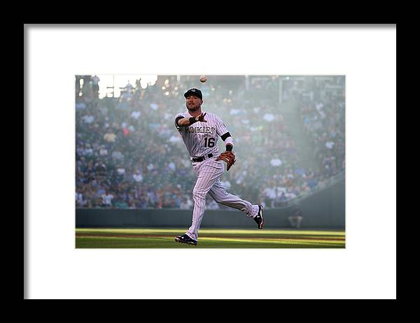 Second Inning Framed Print featuring the photograph Kyle Parker and Jon Gray by Doug Pensinger