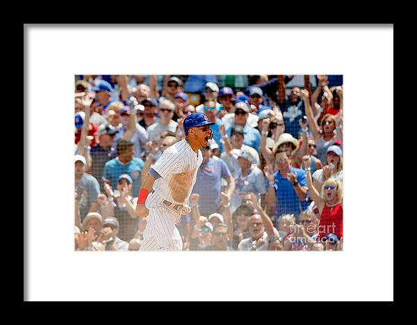 Second Inning Framed Print featuring the photograph Kyle Schwarber And Willson Contreras by Jon Durr
