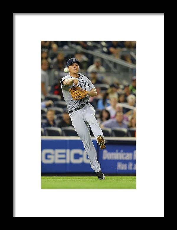 American League Baseball Framed Print featuring the photograph Kyle Seager by Al Bello