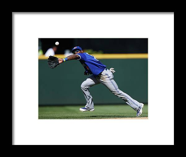 American League Baseball Framed Print featuring the photograph Kyle Seager and Jose Reyes by Otto Greule Jr