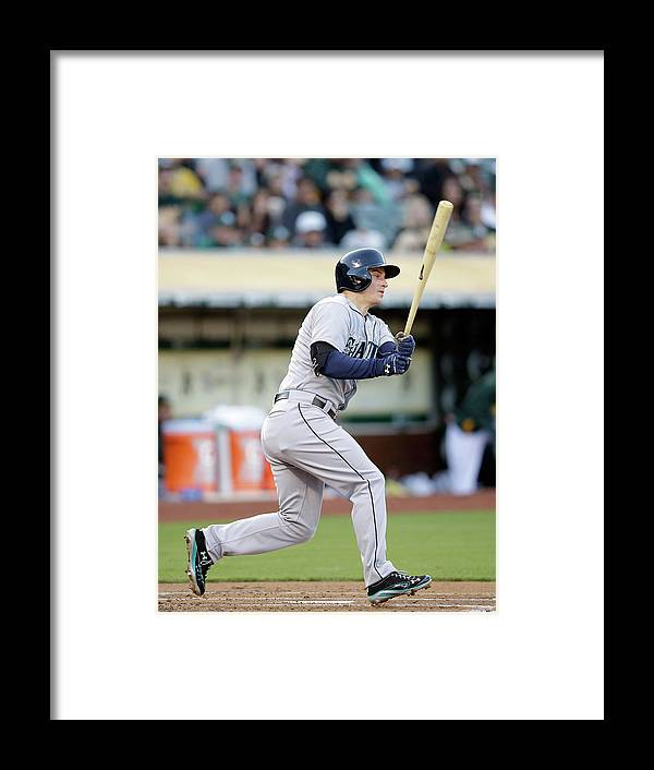 American League Baseball Framed Print featuring the photograph Kyle Seager by Ezra Shaw