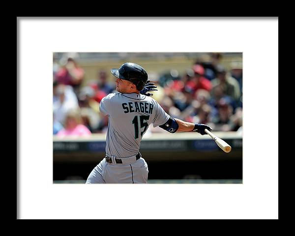 American League Baseball Framed Print featuring the photograph Kyle Seager by Hannah Foslien
